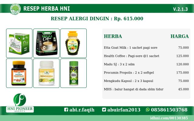 resep herba Alergi Dingin