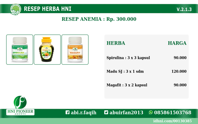 resep herba Anemia